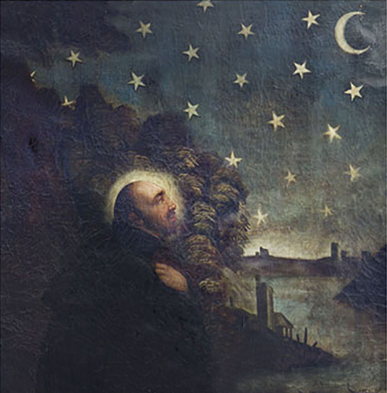 Saint Ignace contemple les étoiles