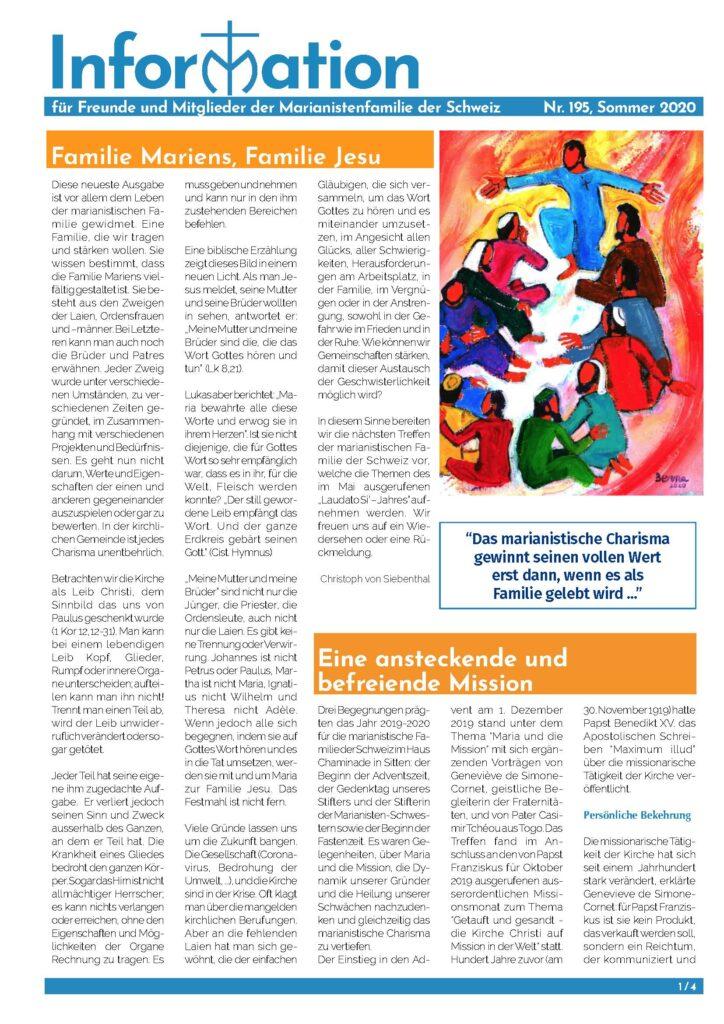Informationsblatt Nr. 195
